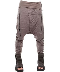 Demobaza | Earth Resin Coated Wrinkled Jersey Pants