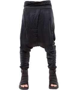 Demobaza | Resin Coated Wrinkled Jersey Pants