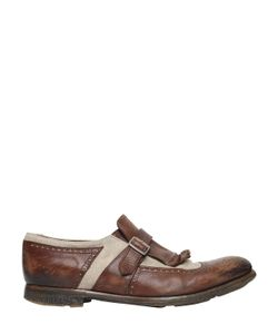 Church's | Shanghai Washed Leather Linen Shoes