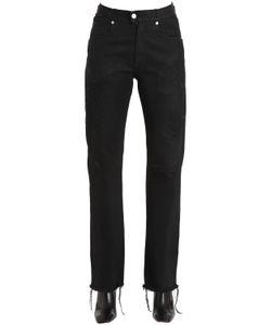 Alyx | Cotton Denim Leather Biker Jeans