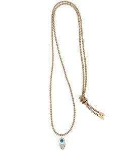 Luis Morais | Gold Enameled Hamsa Necklace