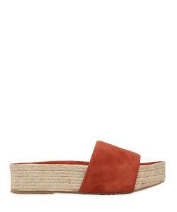 Paloma Barceló | 40mm Platform Suede Sandals