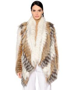 Yves Salomon   Fox Fur Jacket W Pointed Front Hem