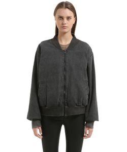 Yeezy   Washed Cotton Canvas Bomber Jacket