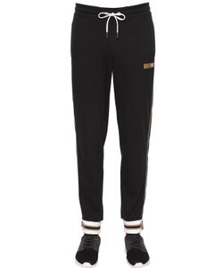 EA7 | Cotton Sweatpants W/ Metallic Details