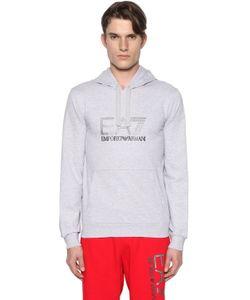 EA7 | Logo Hooded Cotton Sweatshirt