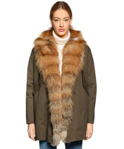 Forte Couture | Bella Fox Fur Cotton Canvas Coat