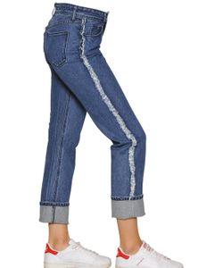 TPN   Frayed Cotton Denim Jeans