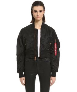 Alpha Industries | Slim Fit Nylon Cropped Bomber Jacket