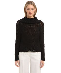 Calvin Klein Collection | Off The Shoulder Cotton Knit Sweater