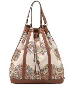 Etro | Oversized Paisley Canvas Bucket Bag