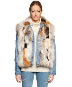 Forte Couture | Le Bon Fox Fur Vest Denim Jacket