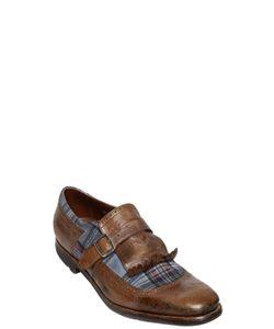 Church's | Shanghai Leather Plaid Suede Shoes