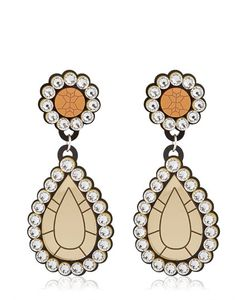 Yazbukey | Gold Diamonds Drop Earrings