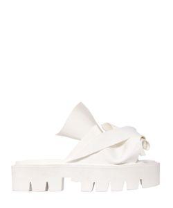 N.21 Loves Kartell | 40mm Bow Rubber Slide Sandals