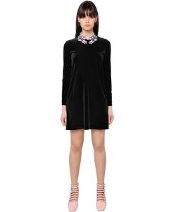 Vivetta | Embroidered Hand Collar Chenille Dress
