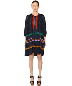 Sonia Rykiel | Oversized Embroide Cotton Voile Dress
