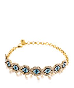Shourouk | Eye Beaded Choker W Pearls