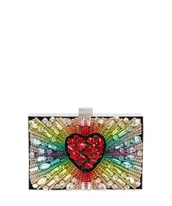 Gedebe | Boxy Rainbow Heart Suede Clutch