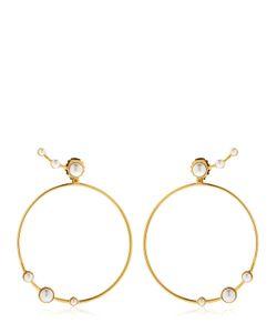 Eshvi | Lava Pearl Circle Earrings