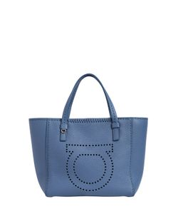 Salvatore Ferragamo | Small Marta Gancio Leather Tote Bag