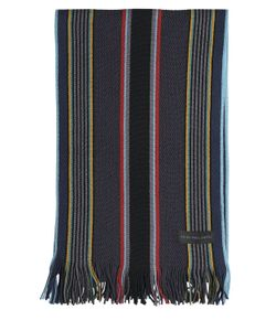 Paul Smith | College Striped Merino Wool Scarf