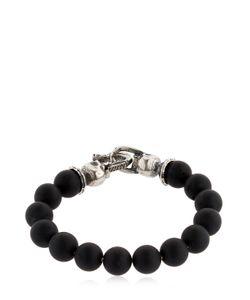 Emanuele Bicocchi | Onyx Beads Sterling Bracelet