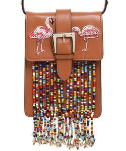 RED Valentino | Flamingo Leather Bag W Beaded Fringe