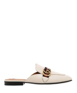 Gucci | 10mm Peyton Gg Leather Mules