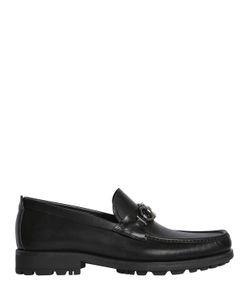 Salvatore Ferragamo   David Logo Leather Loafers