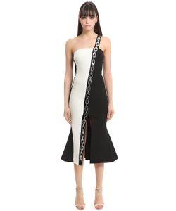 David Koma | Paneled Dress W Embellished Chain Band