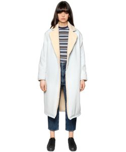 LEVI'S MADE & CRAFTED   Denim Faux Shearling Coat