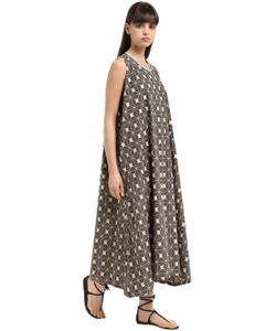 Yvonne S | Sleeveless Printed Cotton Poplin Dress