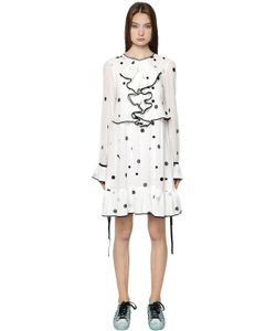 Odeeh | Polka Dot Printed Cotton Voile Dress
