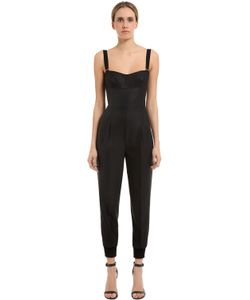 Max Mara | Stretch Cool Wool Silk Crepe Jumpsuit