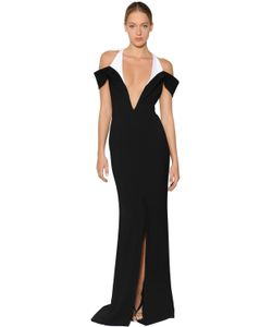 Mugler | Two Tone Cady Gown