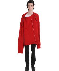 Raf Simons | Oversized Distressed Wool Sweater