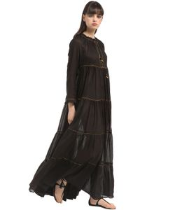 Yvonne S | Long Sleeve Cotton Voile Maxi Dress