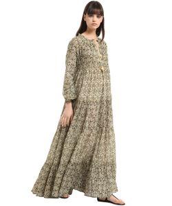 Yvonne S | Long Sleeve Cotton Voile Maxi Dress