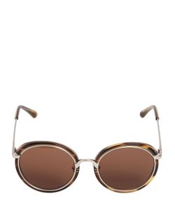 Linda Farrow | Acetate Metal Rounded Sunglasses