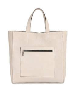 Calvin Klein Collection | Suede Tote Bag With Leather Pocket