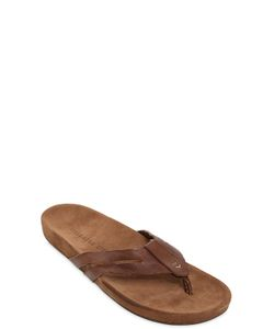John Varvatos | Suede Leather Flip Flops