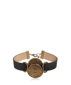 Balmain | Coins Embossed Leather Choker