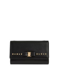 Salvatore Ferragamo | Mini Vara Studded Leather Shoulder Bag