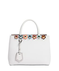 Fendi | Small 2jours Flower Appliqué Leather Bag