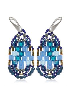 Ziio | Pixel Blue Beaded Earrings