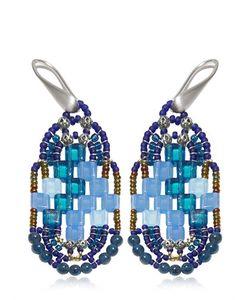 Ziio | Pixel Blue Beaded Earrings