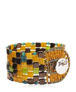 Ziio | Pixel Orange Beaded Bracelet