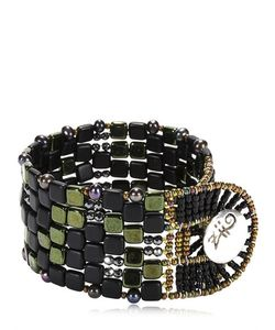 Ziio | Pixel Black Beaded Bracelet