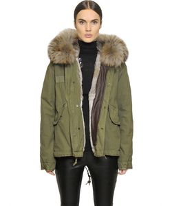 Mr & Mrs Italy | Mrmrs Italy Cotton Canvas Jacket With Rabbit Fur
